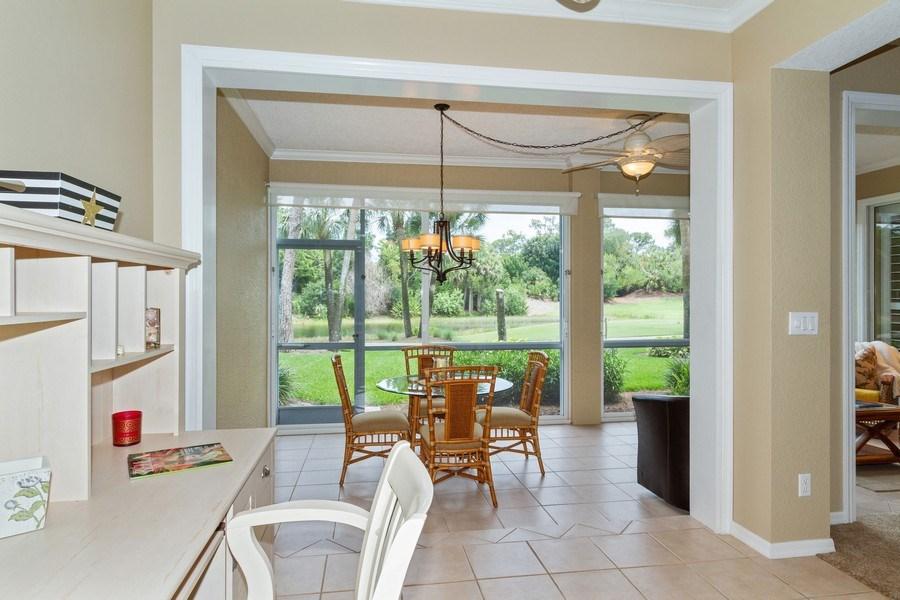 Real Estate Photography - 2130 Aberdeen Lane, #102, Naples, FL, 34109 - Breakfast Nook