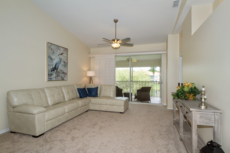 Real Estate Photography - 7416 Plumbago Bridge Rd, P-204, Naples, FL, 34109 - Living Room