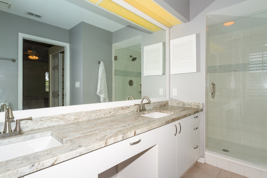 Real Estate Photography - 7416 Plumbago Bridge Rd, P-204, Naples, FL, 34109 - Master Bathroom