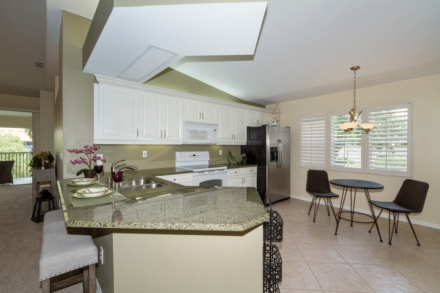Real Estate Photography - 7416 Plumbago Bridge Rd, P-204, Naples, FL, 34109 - Kitchen