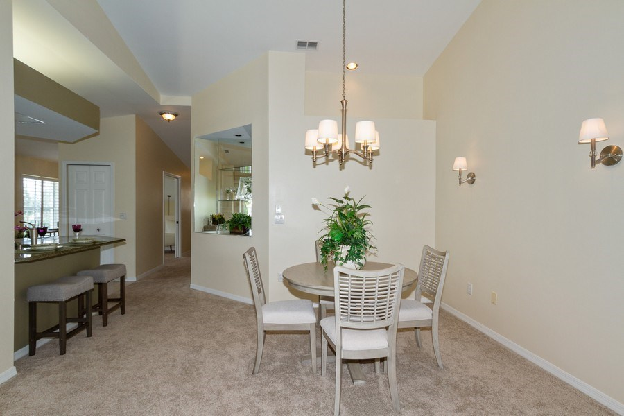 Real Estate Photography - 7416 Plumbago Bridge Rd, P-204, Naples, FL, 34109 - Dining Room