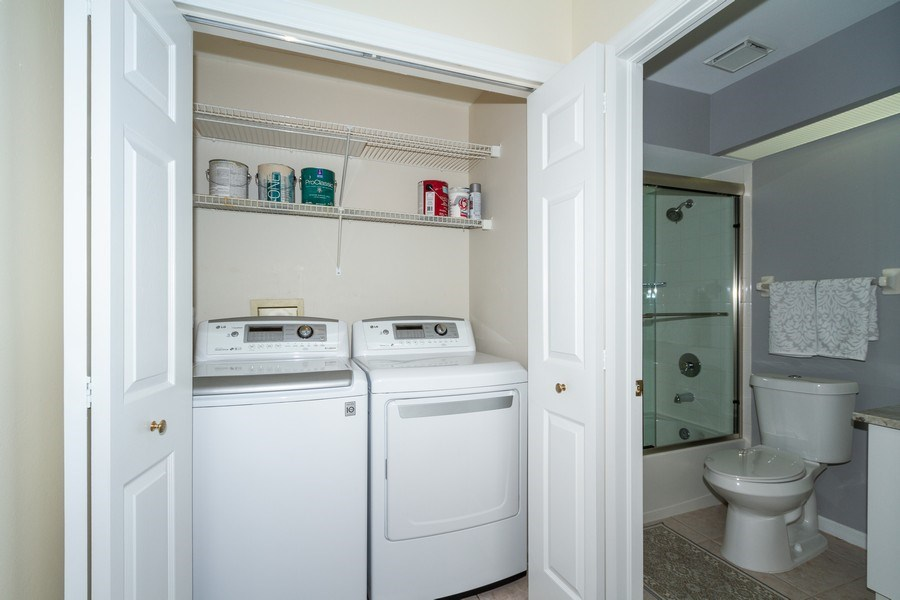 Real Estate Photography - 7416 Plumbago Bridge Rd, P-204, Naples, FL, 34109 - Laundry Room