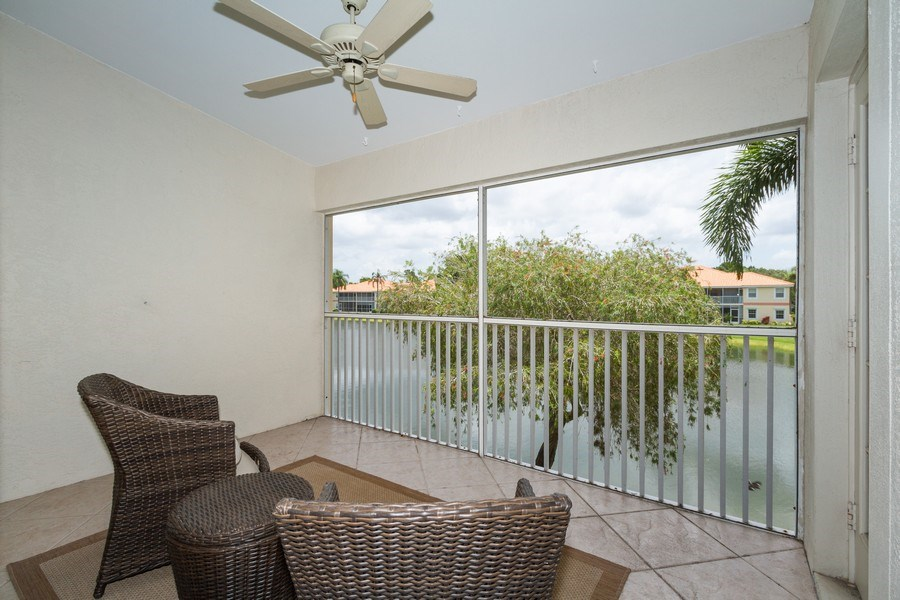 Real Estate Photography - 7416 Plumbago Bridge Rd, P-204, Naples, FL, 34109 - Lanai