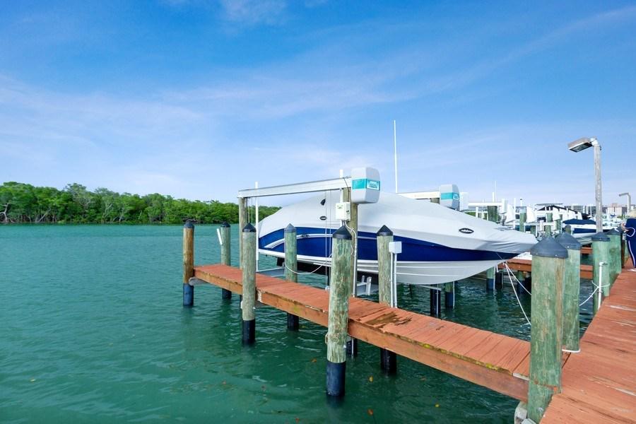 Real Estate Photography - 25750 Hickory, Unit PH 758-E, Bonita Springs, FL, 34134 - Dock