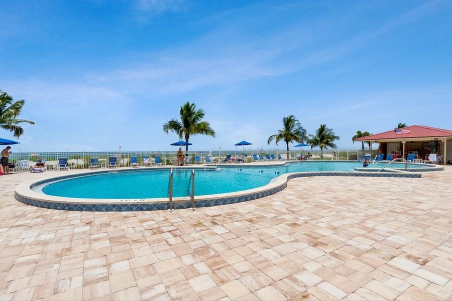 Real Estate Photography - 25750 Hickory, Unit PH 758-E, Bonita Springs, FL, 34134 - Outdoor Pool