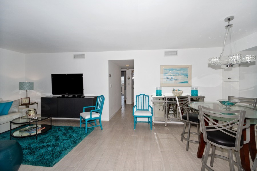 Real Estate Photography - 25750 Hickory, Unit PH 758-E, Bonita Springs, FL, 34134 - Living Room / Dining Room