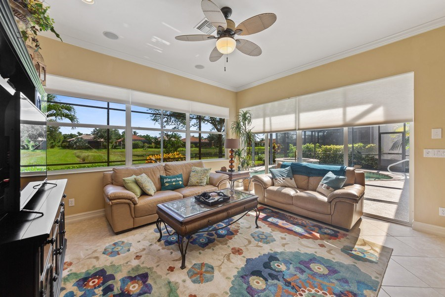 Real Estate Photography - 6061 Divot Ct, Naples, FL, 34113 - Family Room