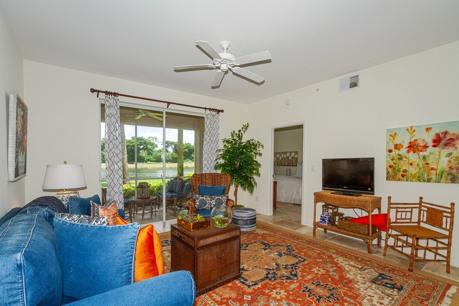 Real Estate Photography - 2310 Carrington Ct #101, Naples, FL, 34109 - Living Room
