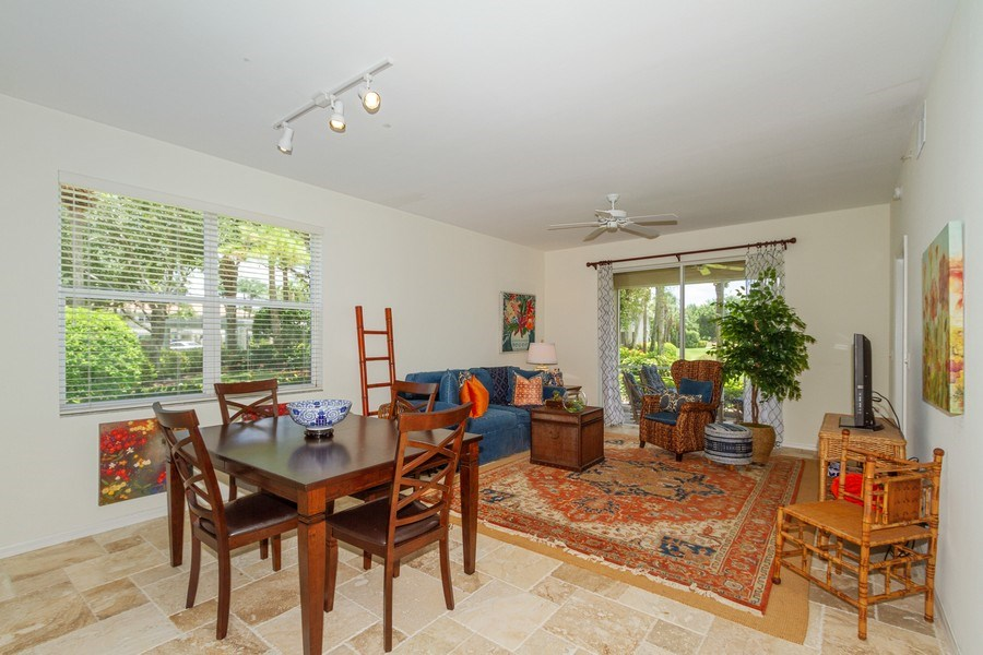 Real Estate Photography - 2310 Carrington Ct #101, Naples, FL, 34109 - Living Room / Dining Room