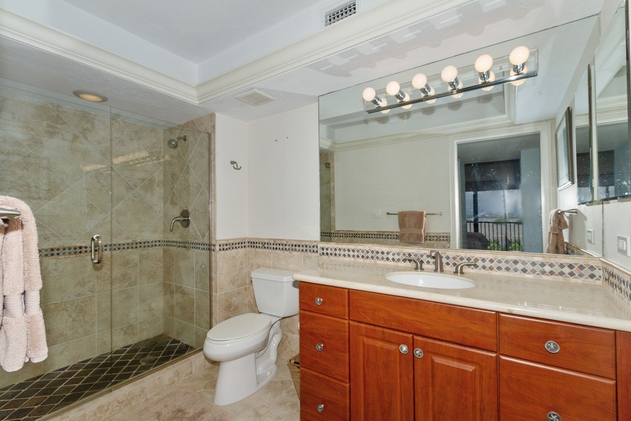 Real Estate Photography - 26171 Hickory Blvd, Unit 4A, Bonita Springs, FL, 34134 - Master Bathroom