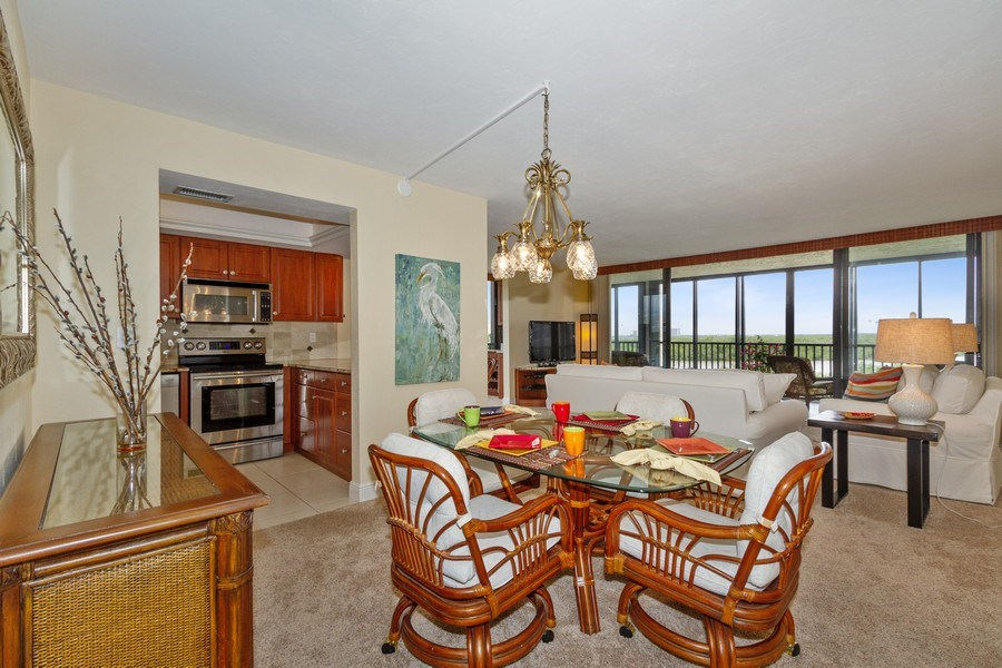 Real Estate Photography - 26171 Hickory Blvd, Unit 4A, Bonita Springs, FL, 34134 - Dining Room