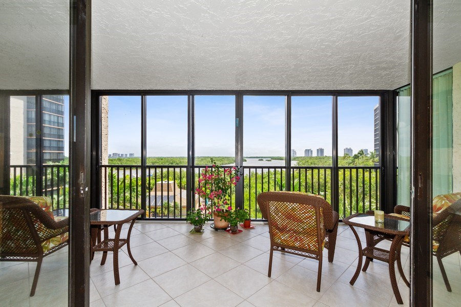 Real Estate Photography - 26171 Hickory Blvd, Unit 4A, Bonita Springs, FL, 34134 - Lanai