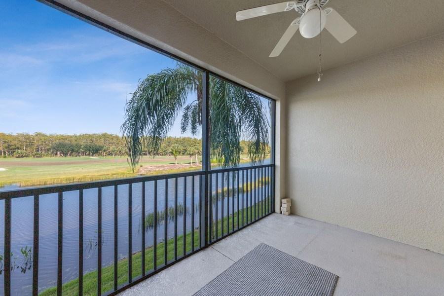 Real Estate Photography - 10285 Heritage Bay Blvd, Unit 825, Naples, FL, 34120 - Balcony