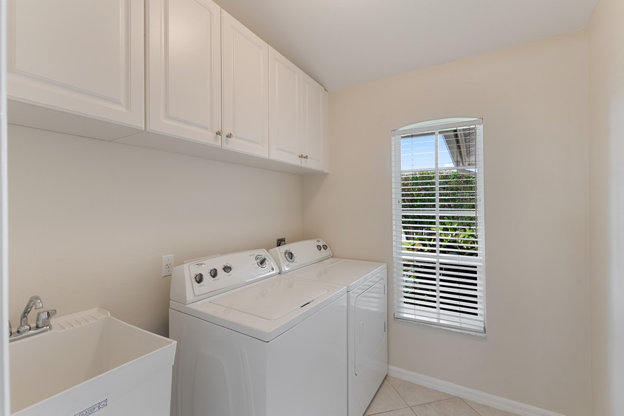 Real Estate Photography - 143 Balfour Drive, Marco Island, FL, 34145 - Laundry Room