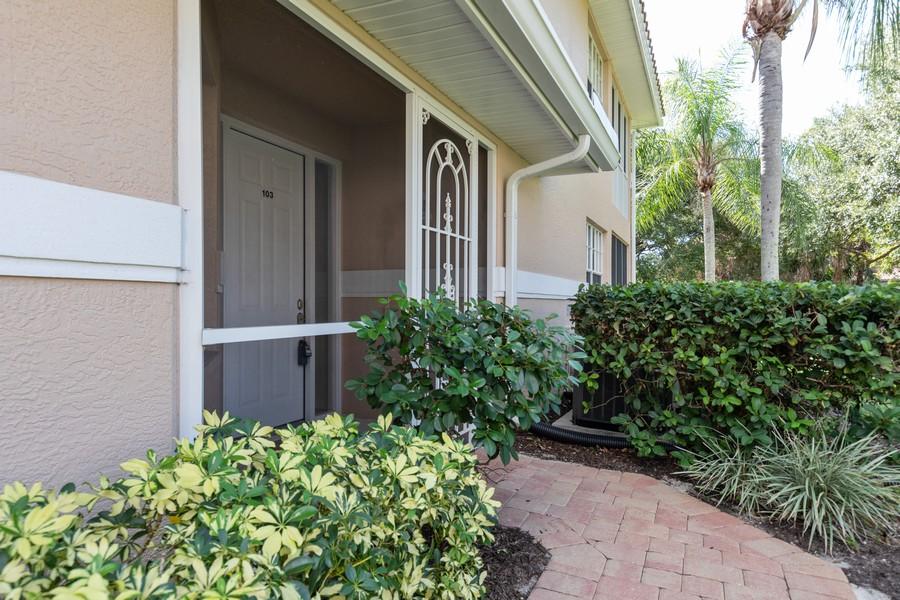 Real Estate Photography - 25090 Ballycastle Ct #103, Bonita Springs, FL, 34134 - Entrance