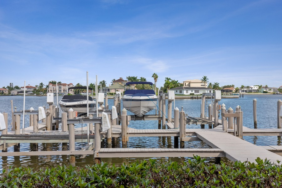 Real Estate Photography - 9400 Gulf Shore Dr #2, Naples, FL, 34108 - Dock