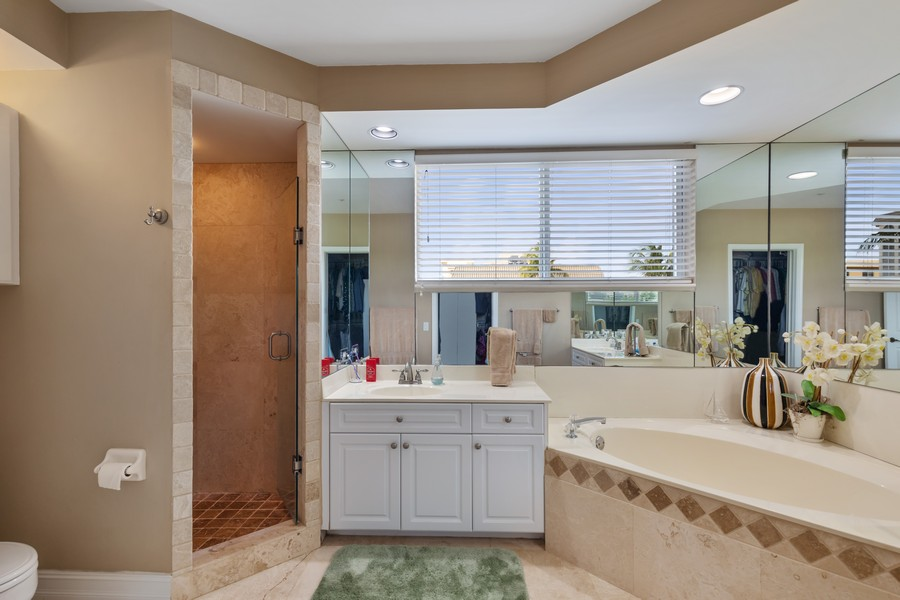 Real Estate Photography - 9400 Gulf Shore Dr #2, Naples, FL, 34108 - Master Bathroom