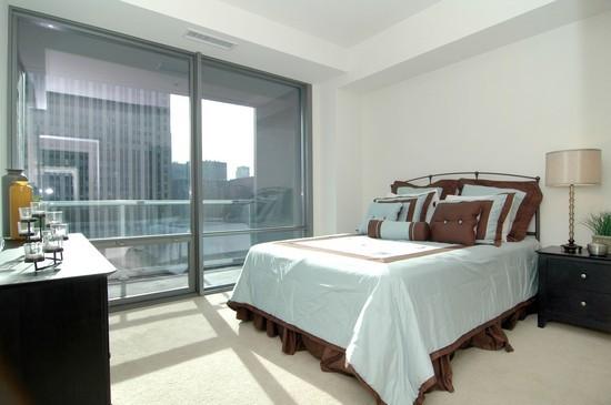 Real Estate Photography - 240 E Illinois, Unit 2603, Chicago, IL, 60611 - Bedroom