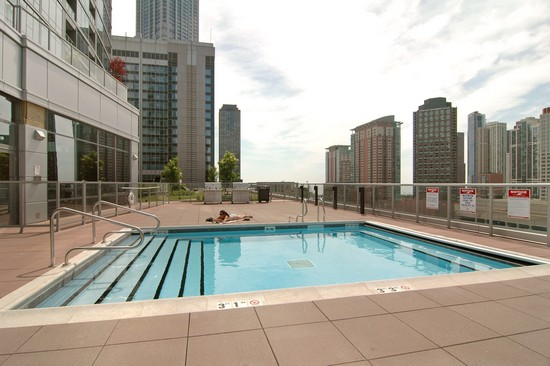 Real Estate Photography - 240 E Illinois, Unit 2603, Chicago, IL, 60611 - Common Sundeck