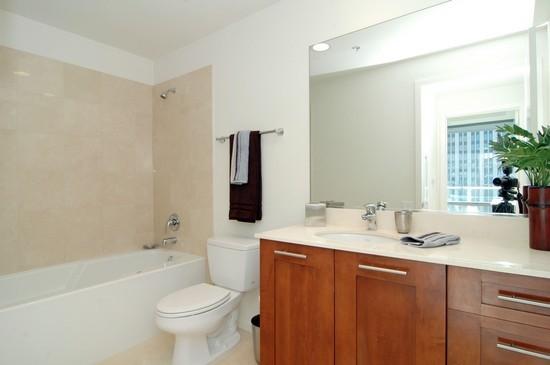 Real Estate Photography - 240 E Illinois, Unit 2603, Chicago, IL, 60611 - Bathroom