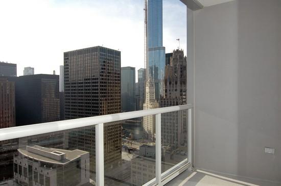 Real Estate Photography - 240 E Illinois, Unit 2603, Chicago, IL, 60611 - Balcony