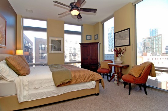 Real Estate Photography - 720 N Larrabee, Unit 602, Chicago, IL, 60611 - Master Bedroom