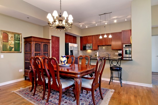 Real Estate Photography - 720 N Larrabee, Unit 602, Chicago, IL, 60611 - Dining Room