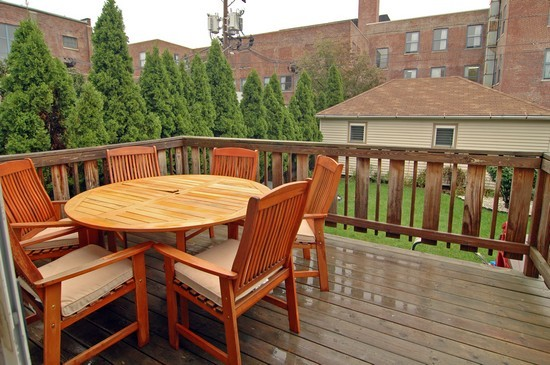 Real Estate Photography - 3725 N Mozart, Chicago, IL, 60618 - Deck