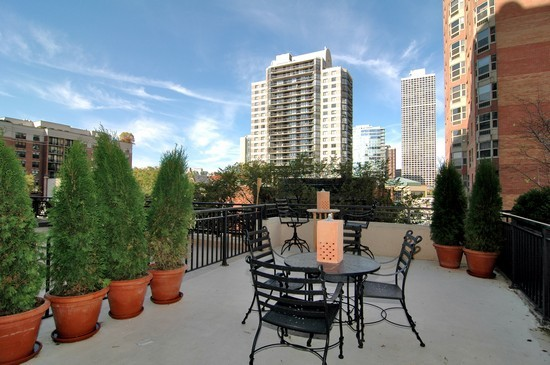 Real Estate Photography - 21 W Chestnut, Unit 507, Chicago, IL, 60610 - Deck