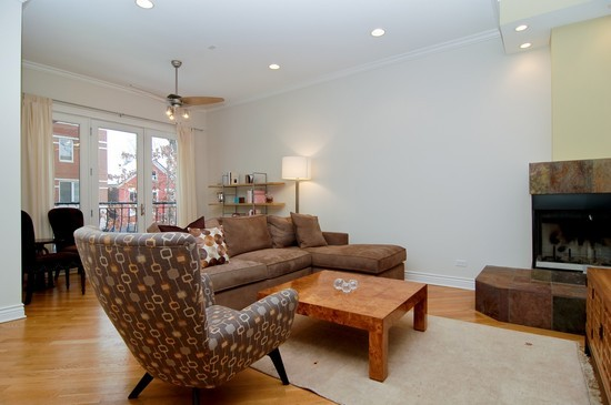 Real Estate Photography - 2037 W Race Ave, Chicago, IL, 60622 - Living Room