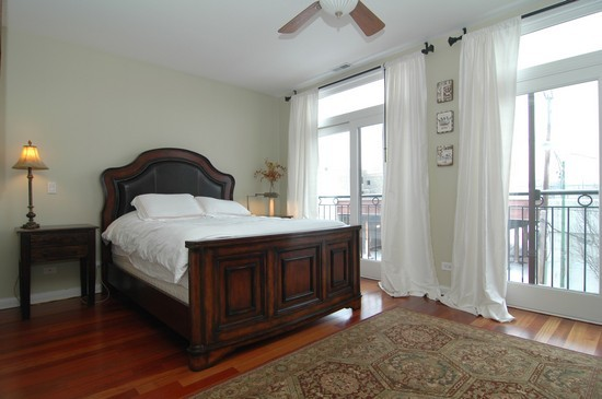Real Estate Photography - 932 W Hubbard St, Chicago, IL, 60642 - Master Bedroom