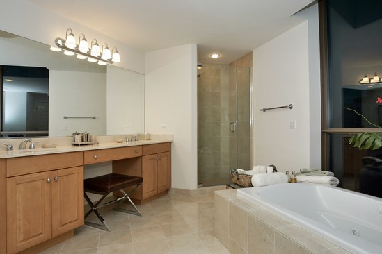 Real Estate Photography - 21 E Huron, Unit 3503, Chicago, IL, 60611 - Master Bathroom