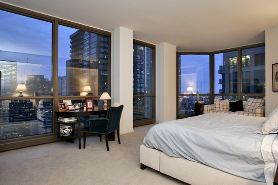 Real Estate Photography - 21 E Huron, Unit 3503, Chicago, IL, 60611 - Master Bedroom