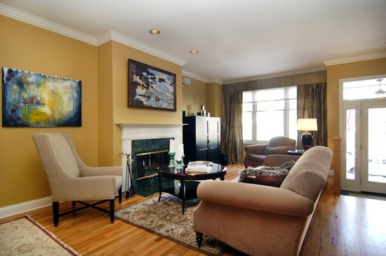 Real Estate Photography - 1843 W School St, Chicago, IL, 60657 - Living Room