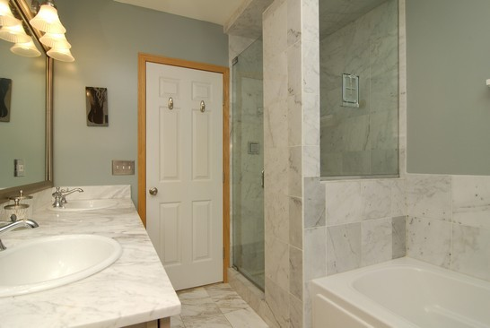 Real Estate Photography - 1843 W School St, Chicago, IL, 60657 - Master Bathroom