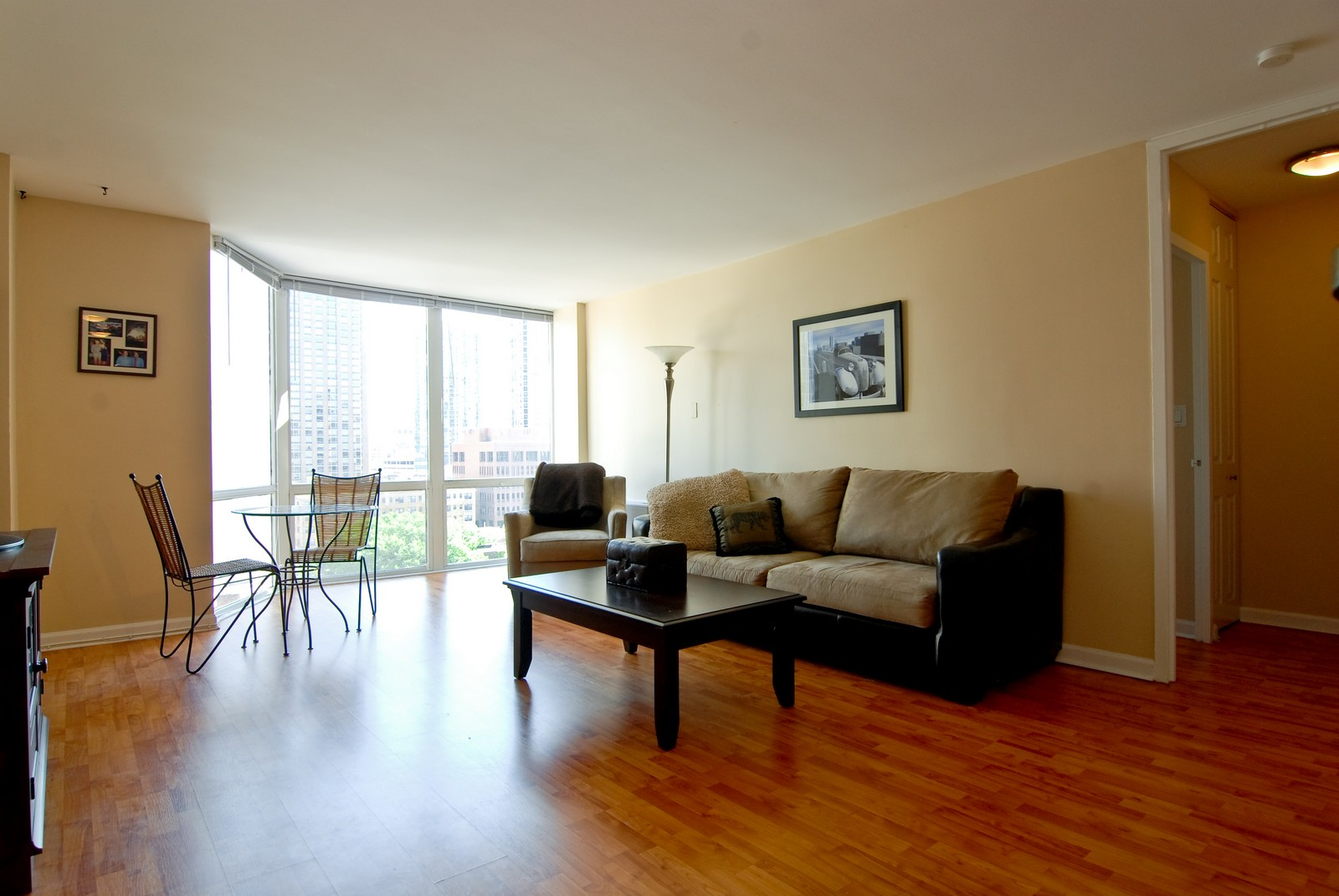 Real Estate Photography - 21 W Goethe, Unit 10K, Chicago, IL, 60610 - Living Room