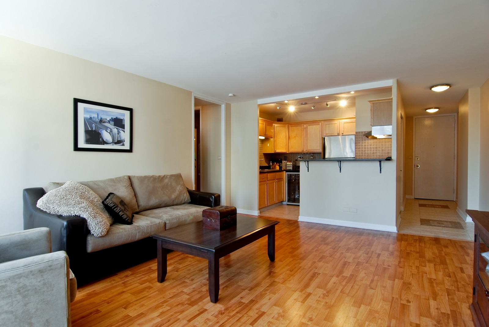 Real Estate Photography - 21 W Goethe, Unit 10K, Chicago, IL, 60610 - Kitchen / Living Room