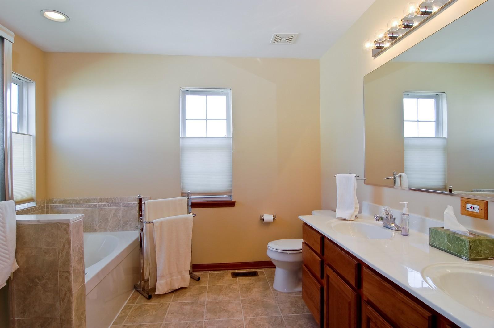 Real Estate Photography - 115 Buckskin Lane, Streamwood, IL, 60107 - Master Bathroom