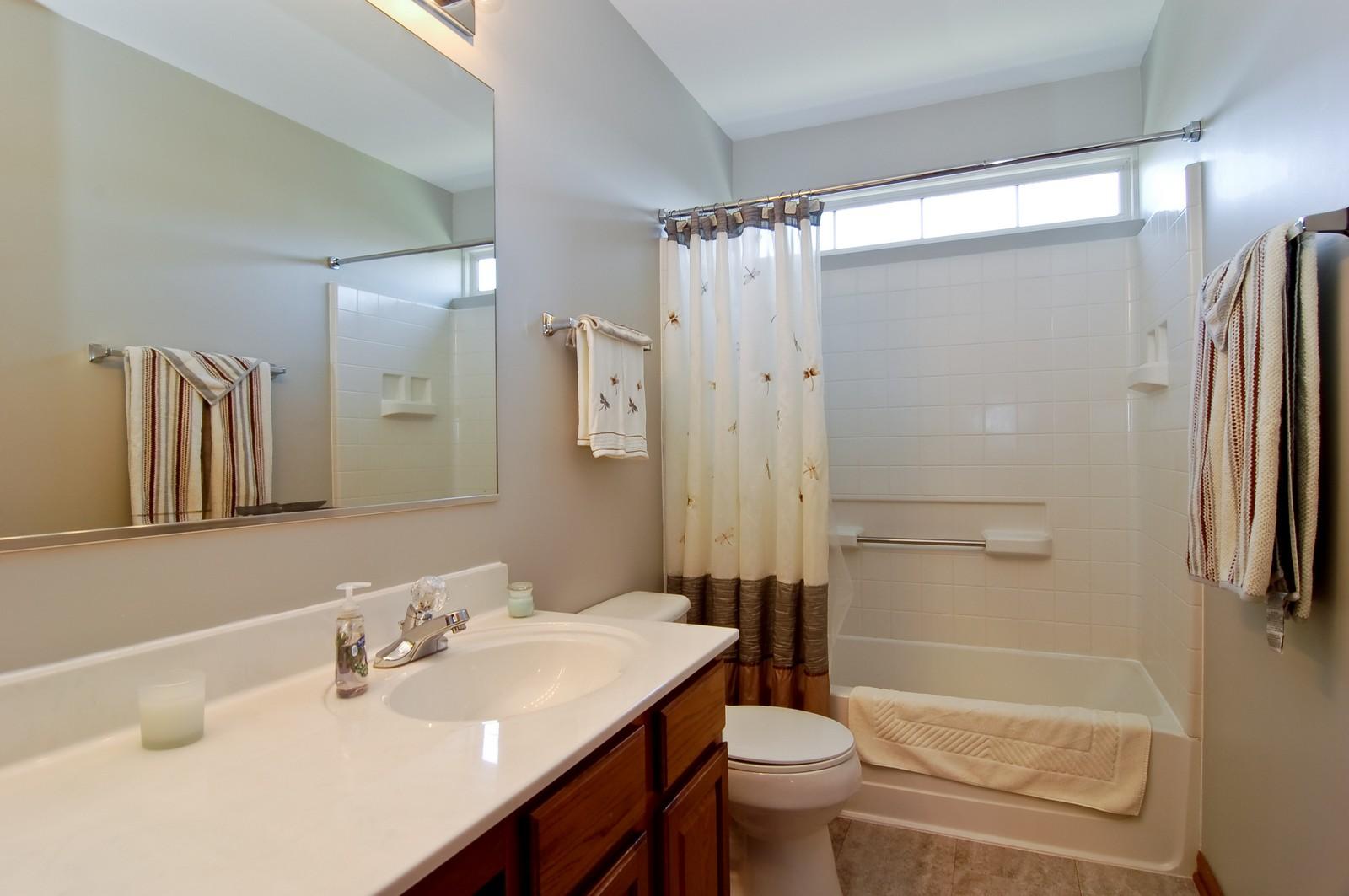Real Estate Photography - 115 Buckskin Lane, Streamwood, IL, 60107 - Bathroom