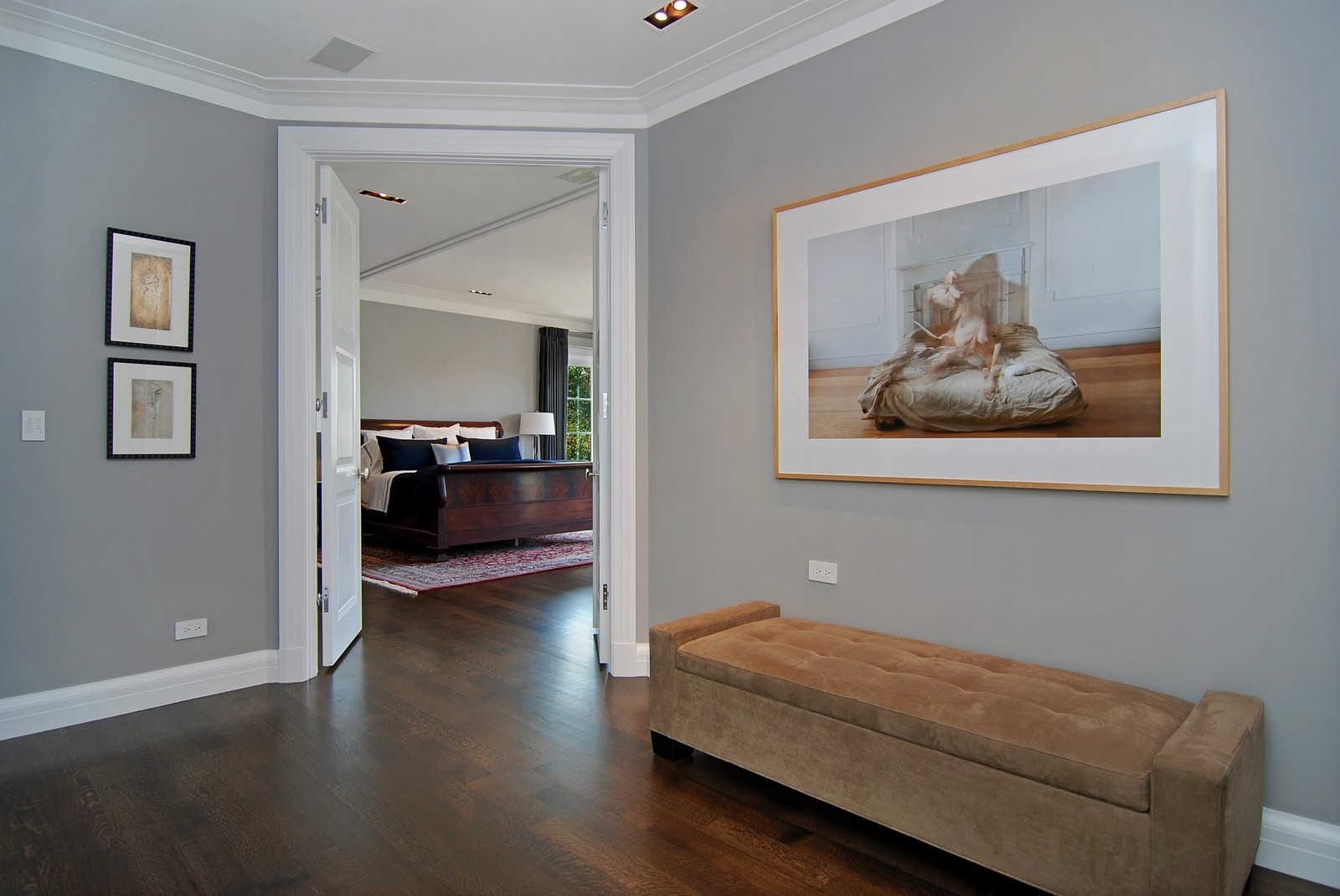 Real Estate Photography - 1866 N Howe, Chicago, IL, 60614 - Ante Room to Master Bedroom