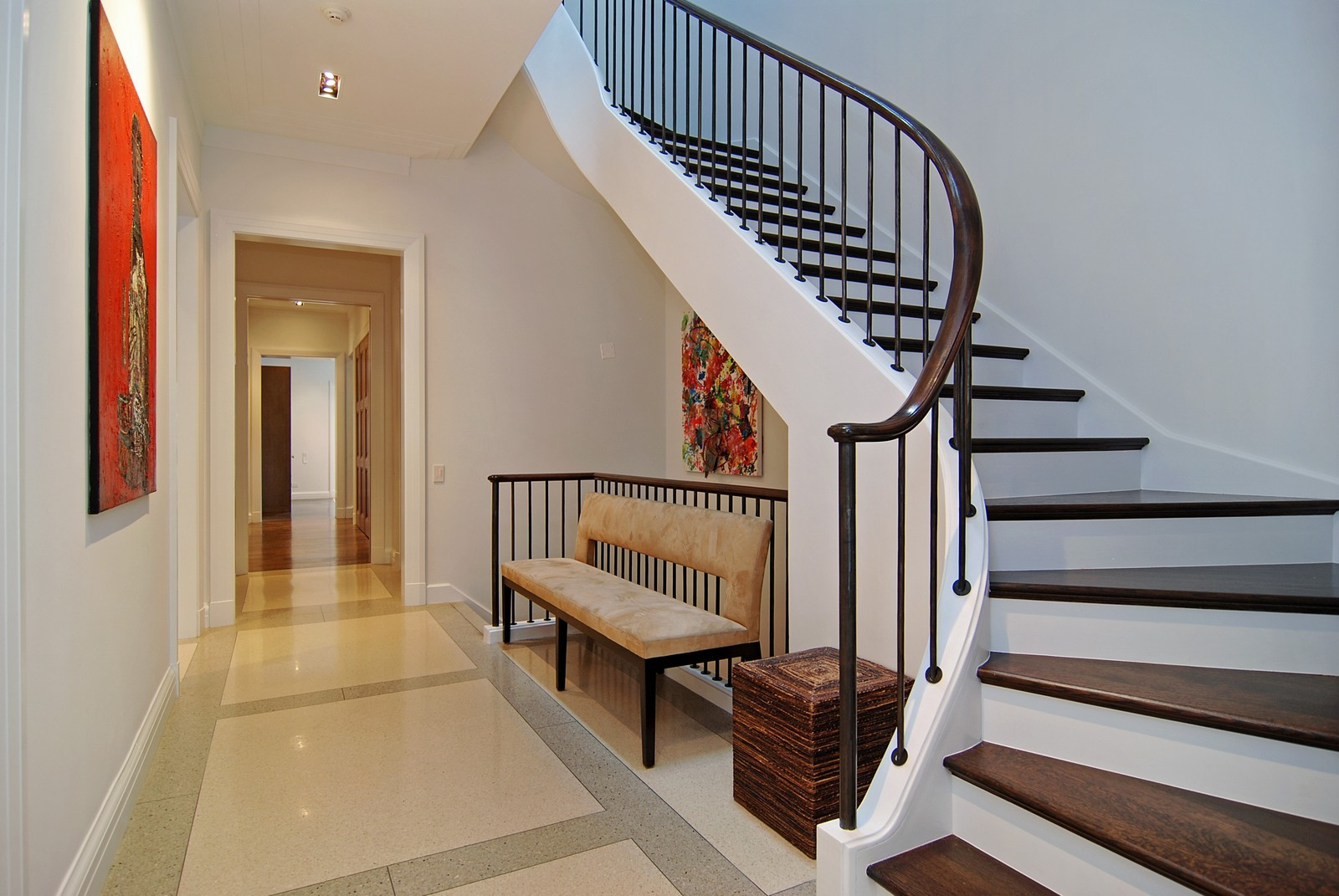 Real Estate Photography - 1866 N Howe, Chicago, IL, 60614 - Hall and Grand Staircase
