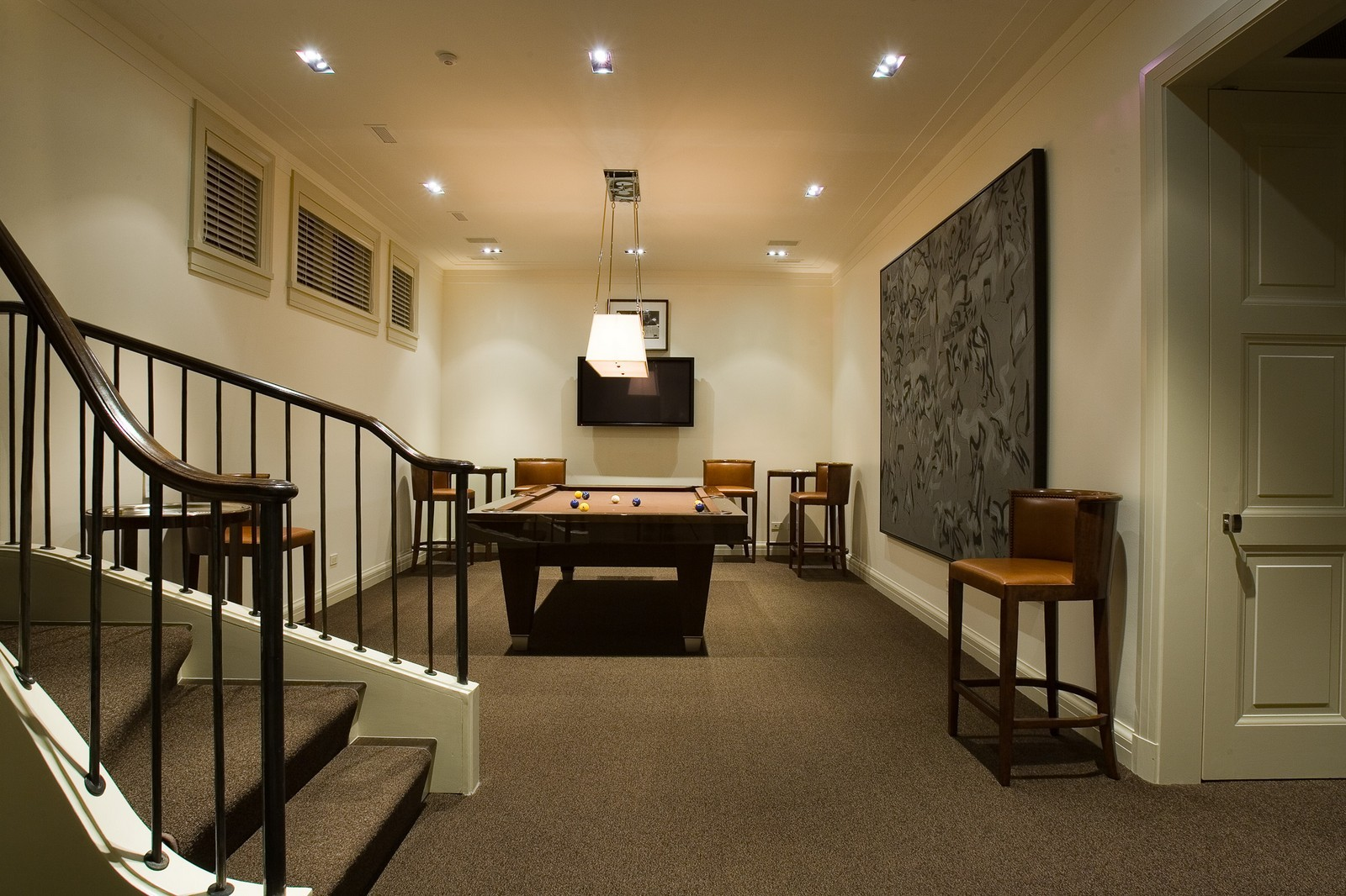 Real Estate Photography - 1866 N Howe, Chicago, IL, 60614 - Billiards Room