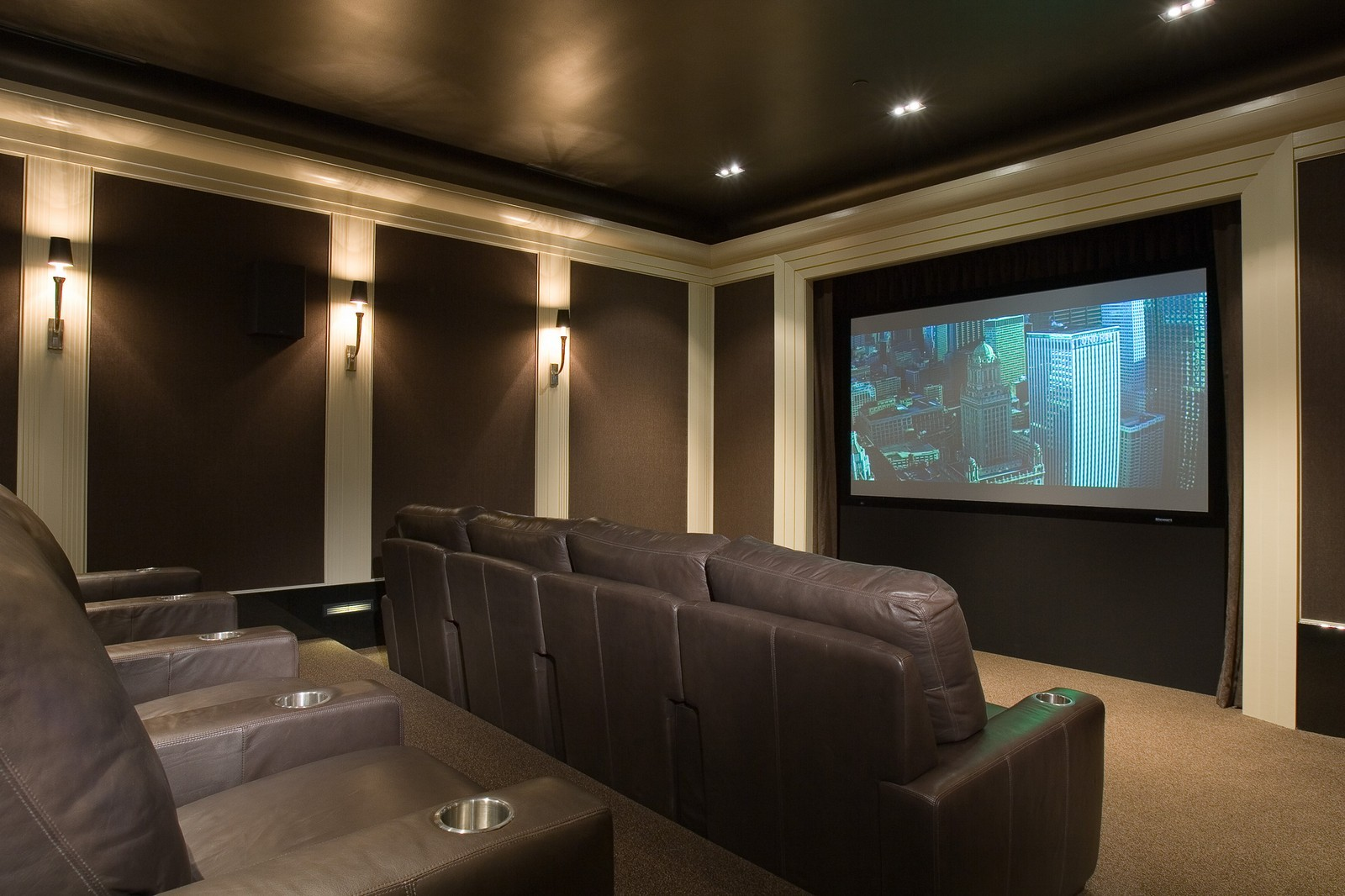 Real Estate Photography - 1866 N Howe, Chicago, IL, 60614 - Home Theater
