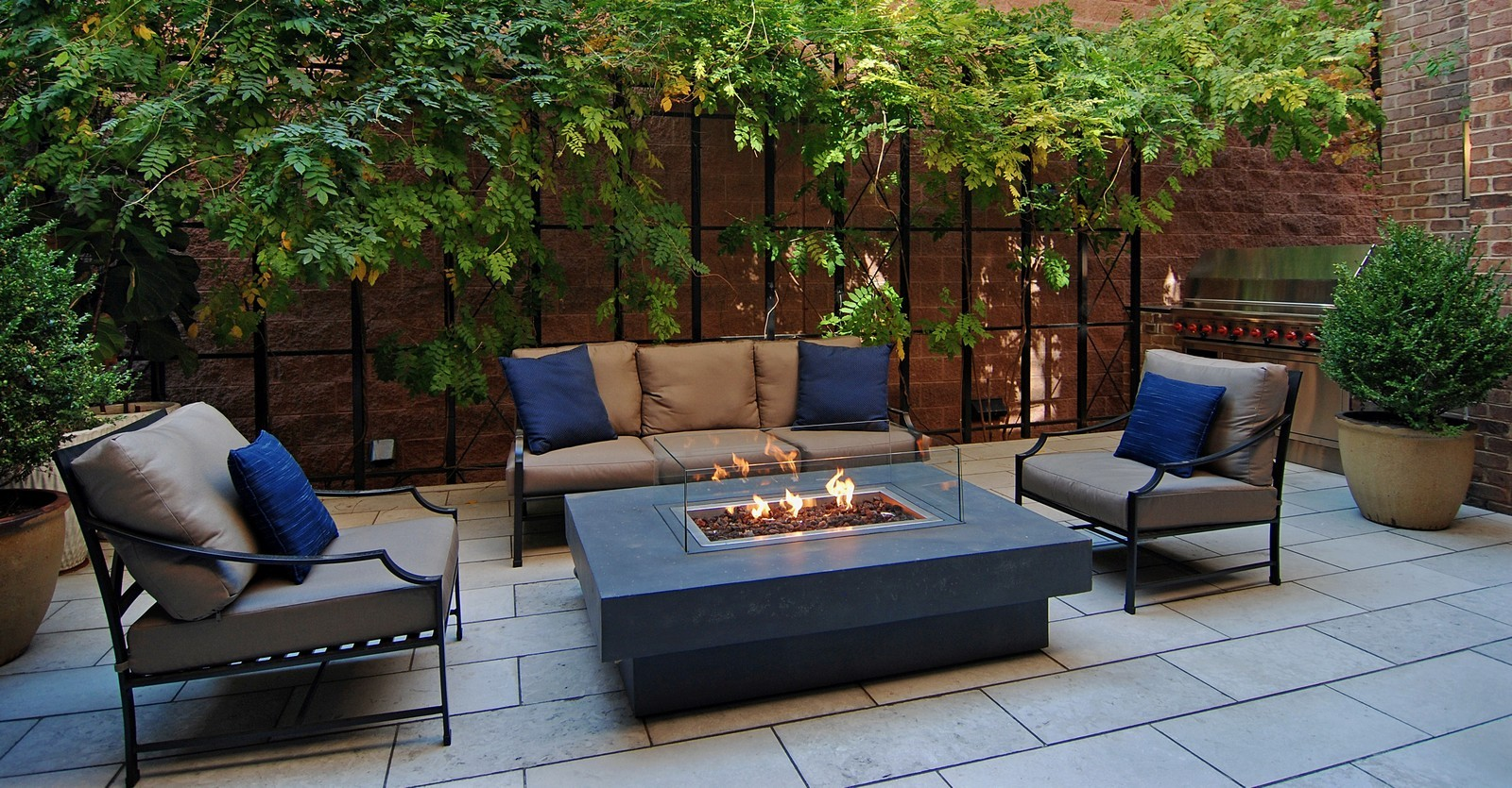 Real Estate Photography - 1866 N Howe, Chicago, IL, 60614 - Side Patio off Dining Room
