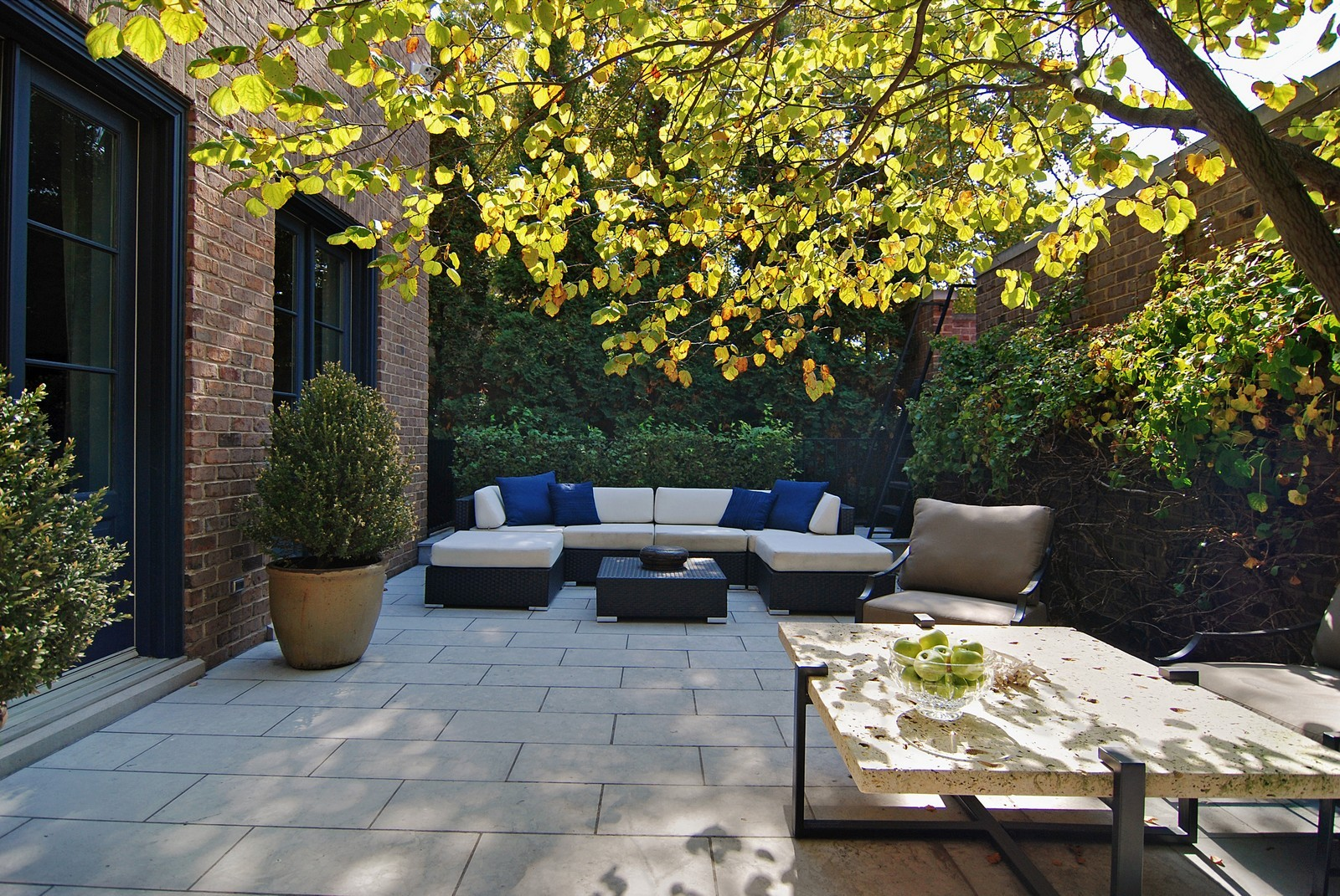 Real Estate Photography - 1866 N Howe, Chicago, IL, 60614 - Rear Patio off Family Room