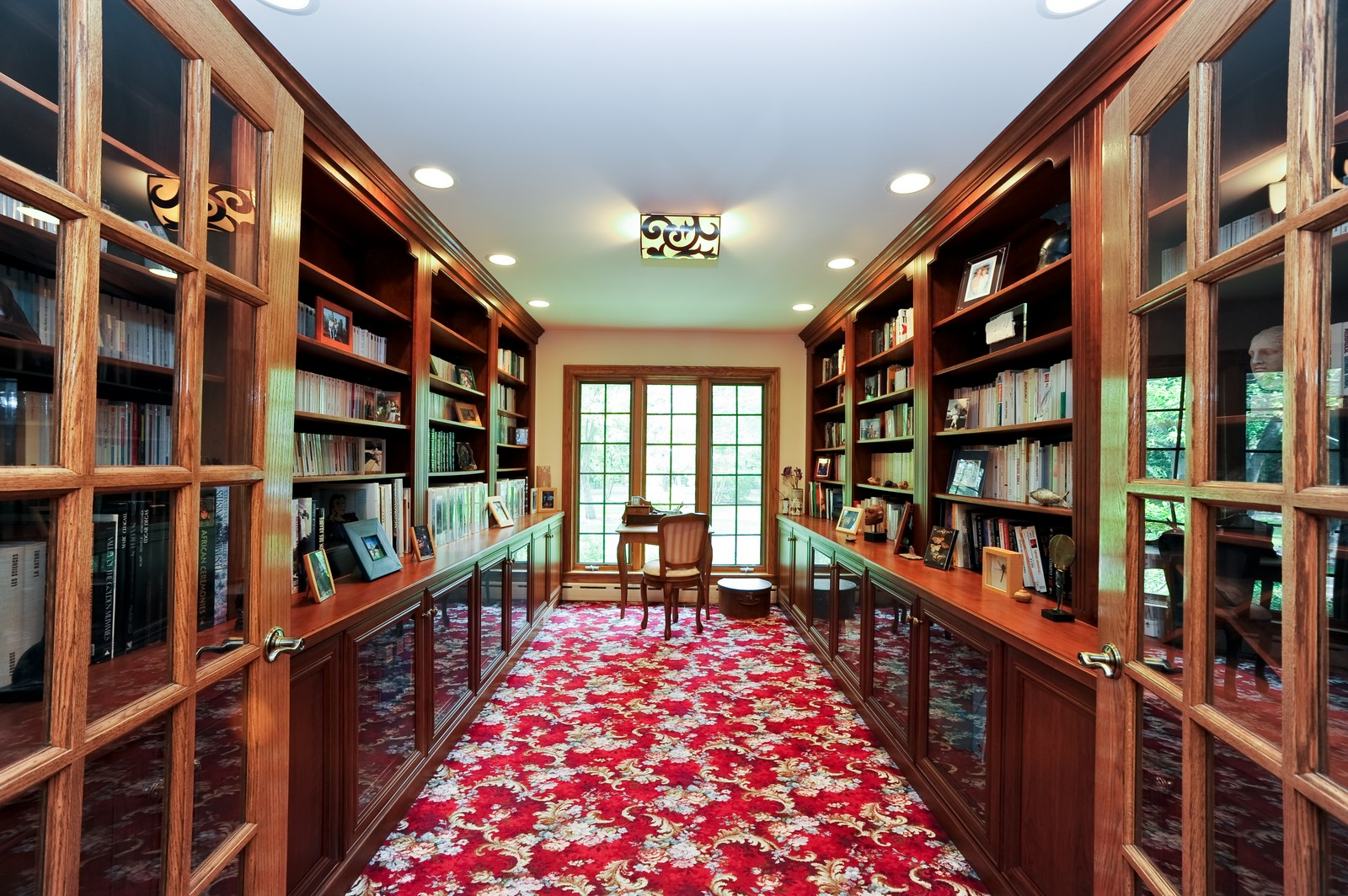 Real Estate Photography - 505 Juneberry, Riverwoods, IL, 60015 - Library