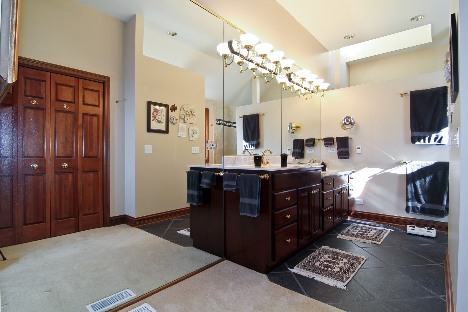 Real Estate Photography - 27W763 Brookside Drive, Winfield, IL, 60190 - Master Bathroom