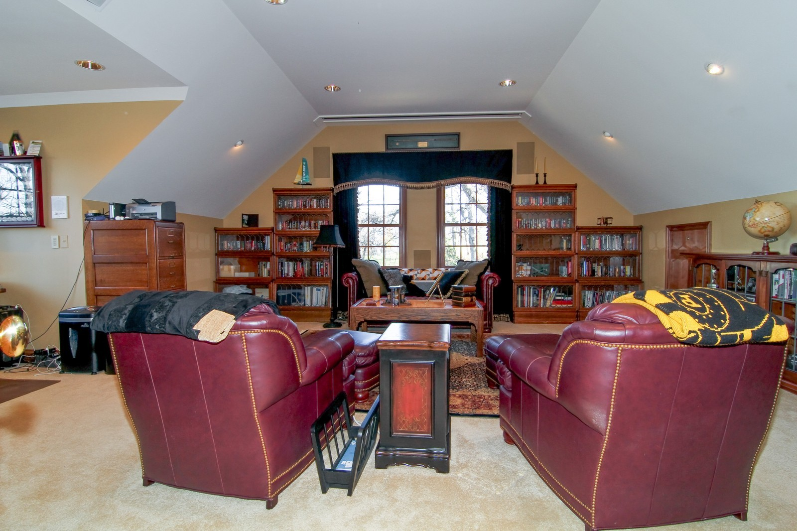 Real Estate Photography - 27W763 Brookside Drive, Winfield, IL, 60190 - Media Room
