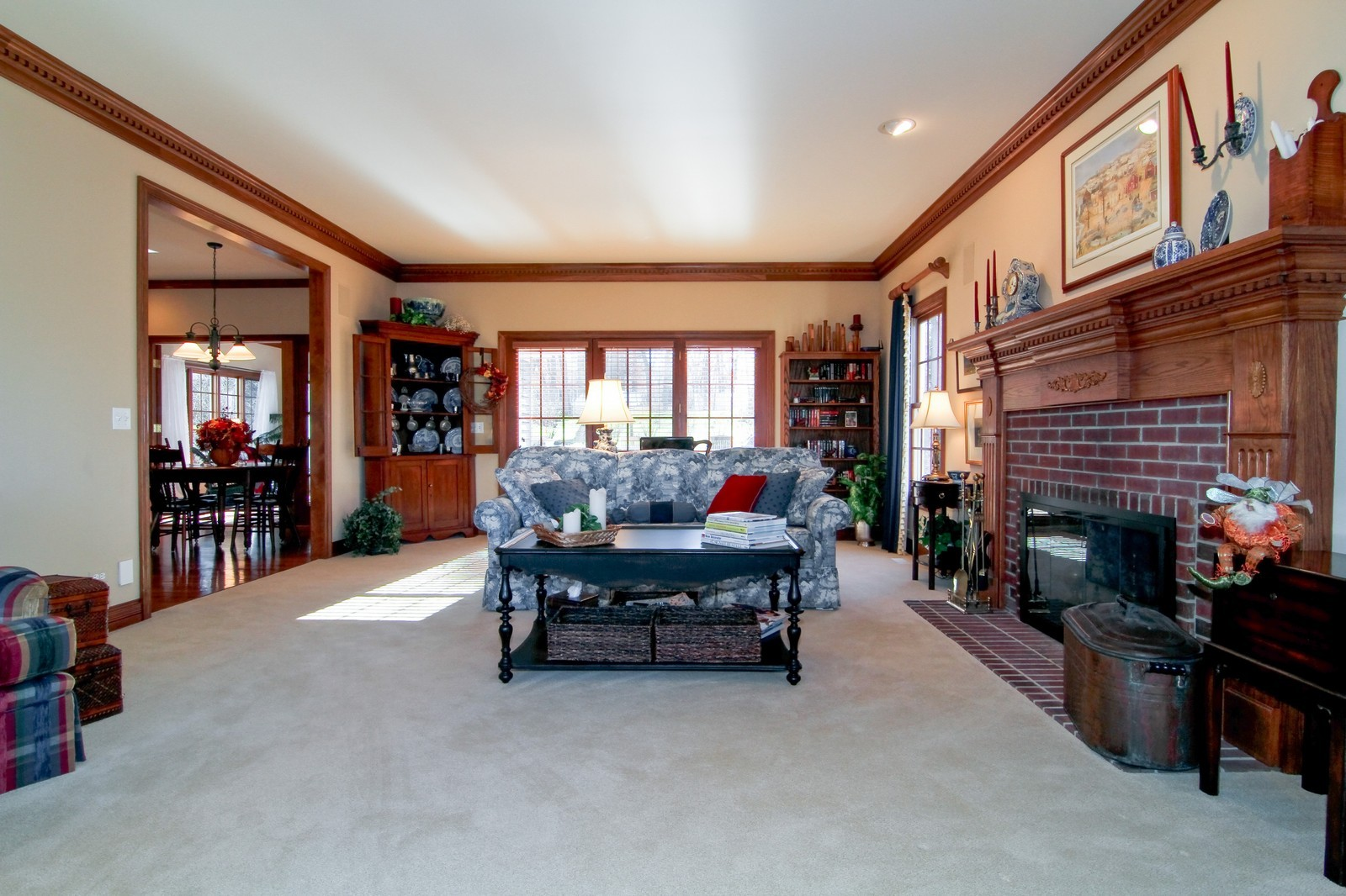 Real Estate Photography - 27W763 Brookside Drive, Winfield, IL, 60190 - Family Room