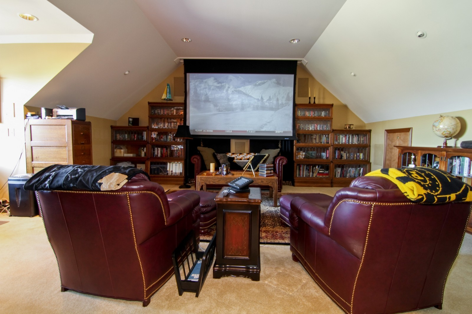 Real Estate Photography - 27W763 Brookside Drive, Winfield, IL, 60190 - Theater
